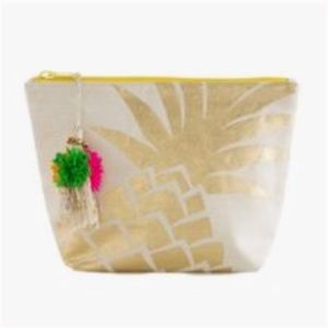 Shiraleah Chicago Pineapple Cosmetic Pouch Bag